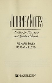 Cover of: Journeynotes : writing for recovery and spiritual growth