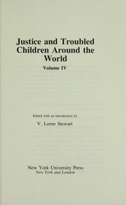 Cover of: Justice and troubled children around the world |