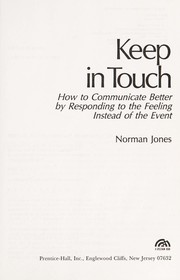 Cover of: Keep in touch