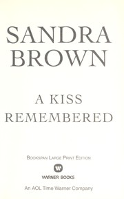 Cover of: A Kiss Remembered