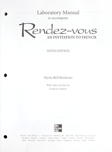 Laboratory Manual to accompany Rendez-vous by Judith A. Muyskens, Alice C. Omaggio Hadley