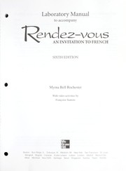 Cover of: Laboratory Manual to accompany Rendez-vous | Judith A. Muyskens, Alice C. Omaggio Hadley