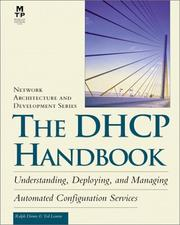 Cover of: The DHCP handbook | Ralph Droms