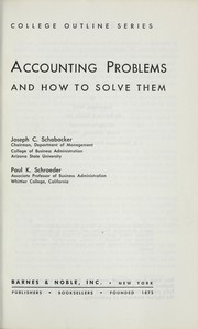 Cover of: Accounting problems