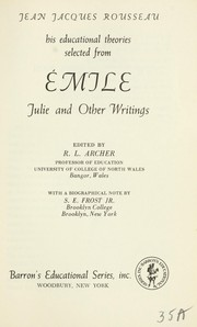 Cover of: Emile; selections | Jean-Jacques Rousseau