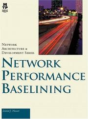 Cover of: Network performance baselining