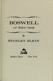 Cover of: Boswell