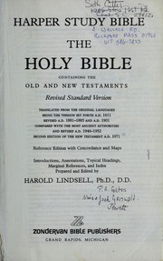 Cover of: Harper study Bible | Harold Lindsell