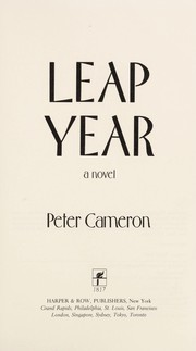 Cover of: Leap Year | Peter Cameron