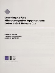 Cover of: Learning to Use Lotus 1-2-3, Release 2.2 | James S. Qussney