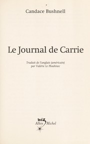 Cover of: Le journal de Carrie