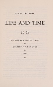 Cover of: Life and time | Isaac Asimov