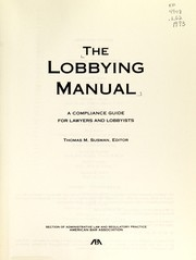 Cover of: The Lobbying manual |