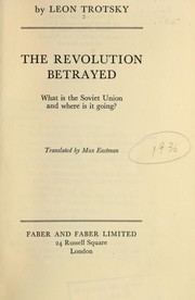 Cover of: The revolution betrayed