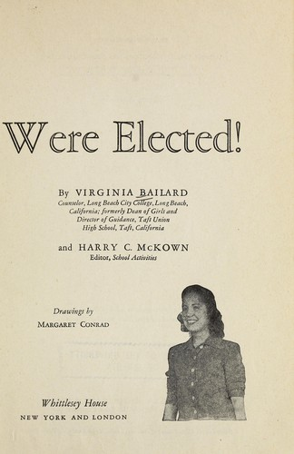 So you were elected! by Virginia Bailard