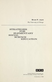 Cover of: Strategies for elementary social science education