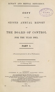 Annual report of the Board of Control