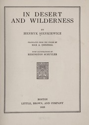 Cover of: In desert and wilderness