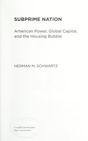 Cover of: Subprime nation | Schwartz, Herman M.