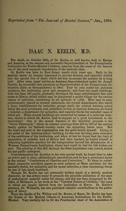 Cover of: Isaac N. Kerlin M.D | G. E. Shuttleworth