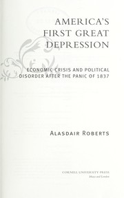 Cover of: The first Great Depression