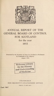 Cover of: Annual report of the General Board of Control for Scotland |