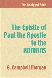 Cover of: The Epistle of Paul the Apostle to the Romans
