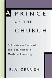 Cover of: Prince of the Church | B. a. Gerrish