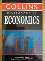 Cover of: Dictionary of economics | C. L. Pass