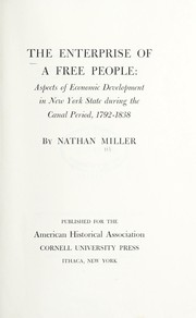 Cover of: The enterprise of a free people
