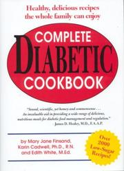 Cover of: Complete Diabetic Cookbook | Mary Jane Finsand