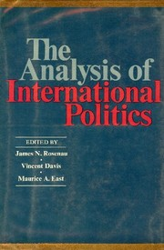 Cover of: Analysis of International Politics
