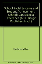 Cover of: School social systems and student achievement