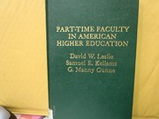 Cover of: Part-time faculty in American higher education | David W. Leslie