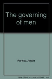 Cover of: The governing of men
