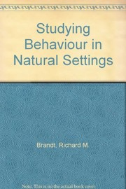Cover of: Studying behavior in natural settings