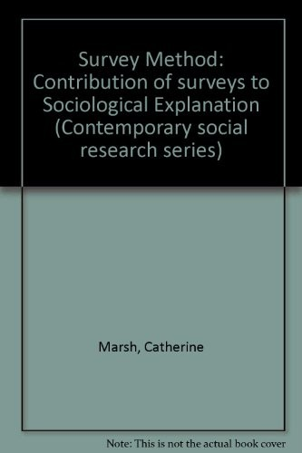 The survey method by Catherine M. Marsh