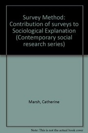 Cover of: The survey method | Catherine M. Marsh