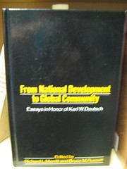 Cover of: From National Development to Global Community
