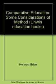 Cover of: Comparative education | Brian Holmes