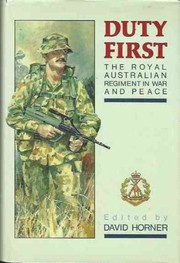 Cover of: Duty first |