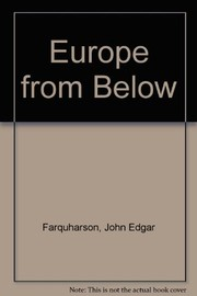 Cover of: Europe from below | John E. Farquharson