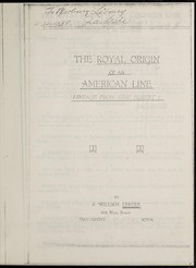 Cover of: The royal origin of an American line | J. William Lester
