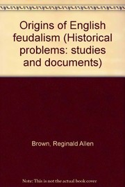 Cover of: Origins of English feudalism
