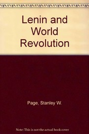 Cover of: Lenin and world revolution | Stanley W. Page