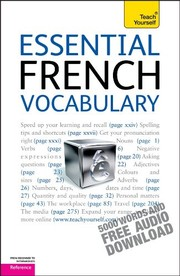 Cover of: Essential French Vocabulary: A Teach Yourself Guide