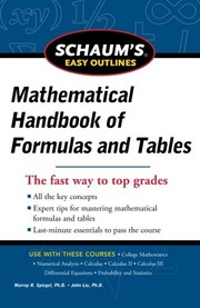Cover of: Schaum's Easy Outline of Mathematical Handbook of Formulas and Tables, Revised Edition (Schaum's Easy Outlines)