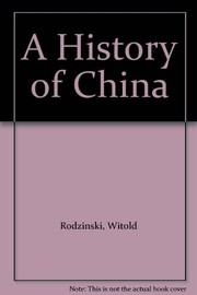 Cover of: A history of China | Witold RodzinМЃski