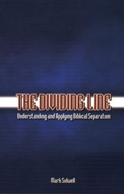 Cover of: The dividing line | Mark Sidwell