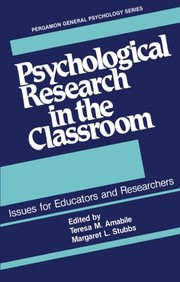 Cover of: Psychological research in the classroom |